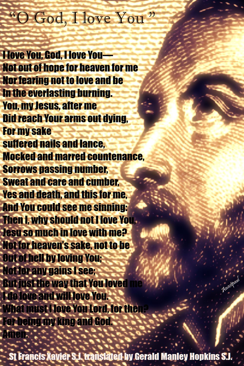 I love you lord - st francis xavier
