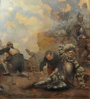 Ignatius is wounded at the Battle of Pamplona