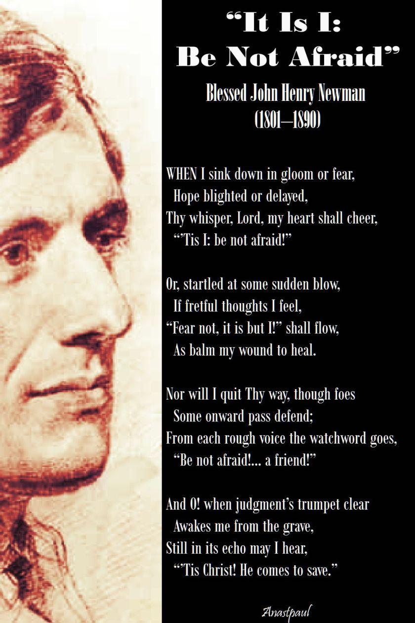 it is I - be not afraid - bl john henry newman