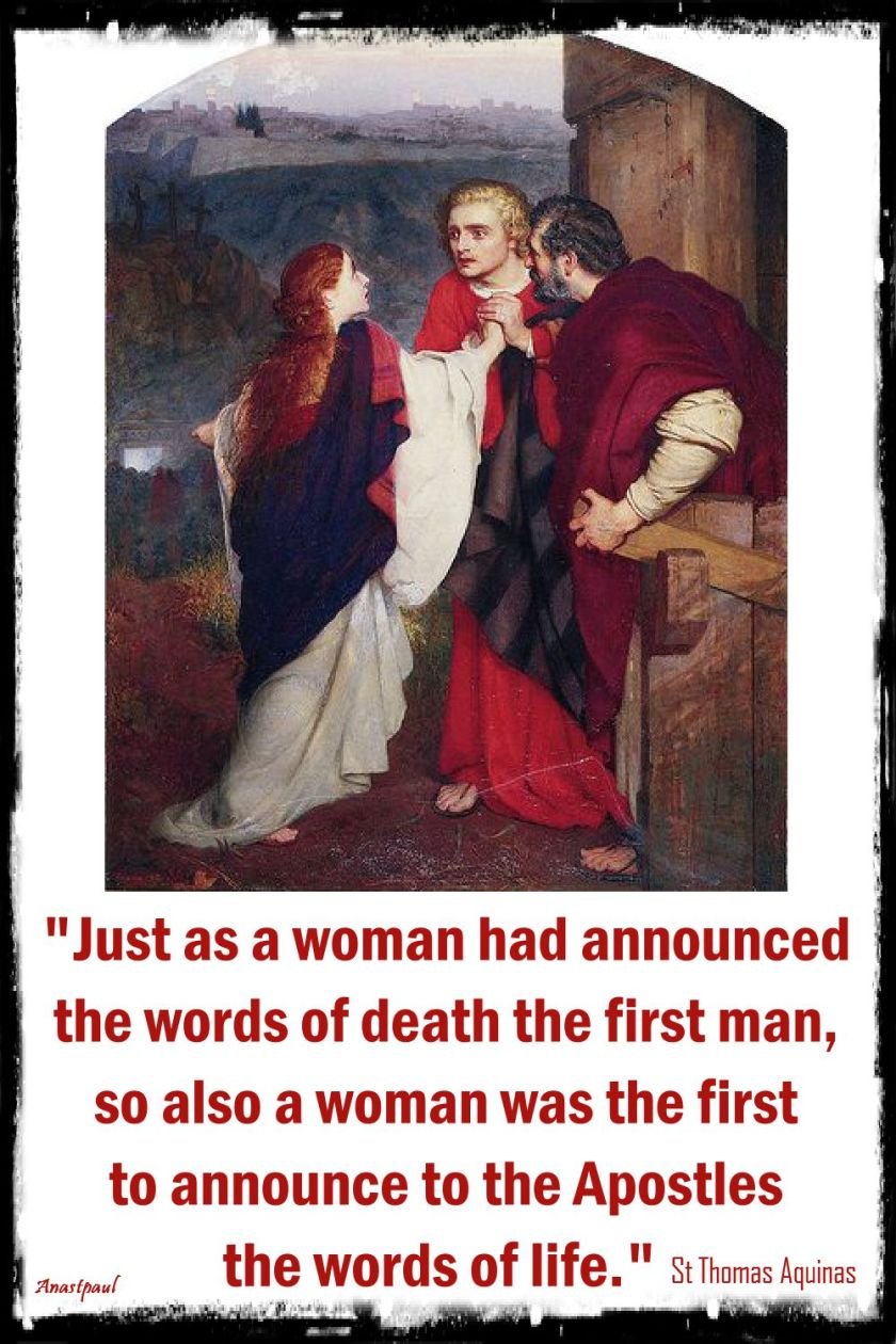just as a woman - st thomas aquinas