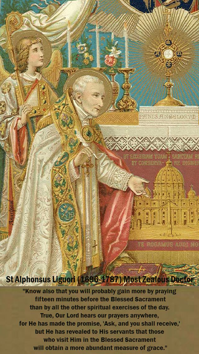 know alsos tha you will - st alphonsus liguori