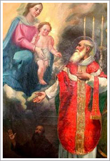 lawrence with mary and jesus