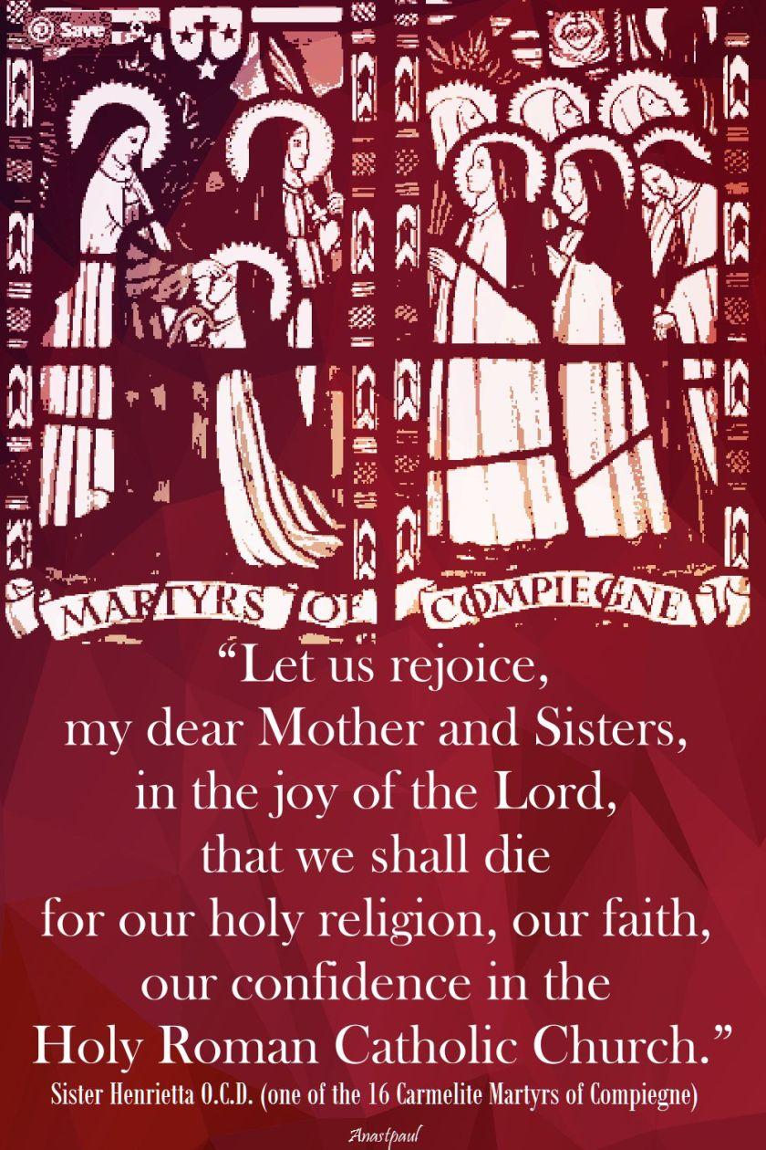 let us rejoice-sister henrietta