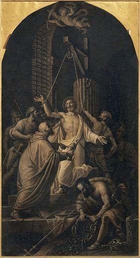 Martyrdom of St Apollinaris Lattanzio Querena ––19th. century