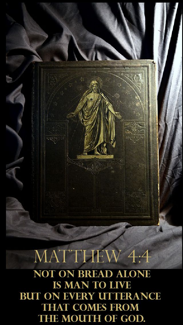 Matthew 4 4