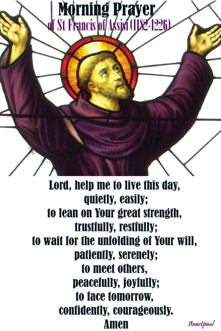 morning prayer of st francis