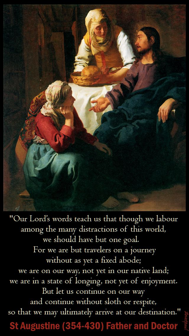 our lords words teach us - st augustine