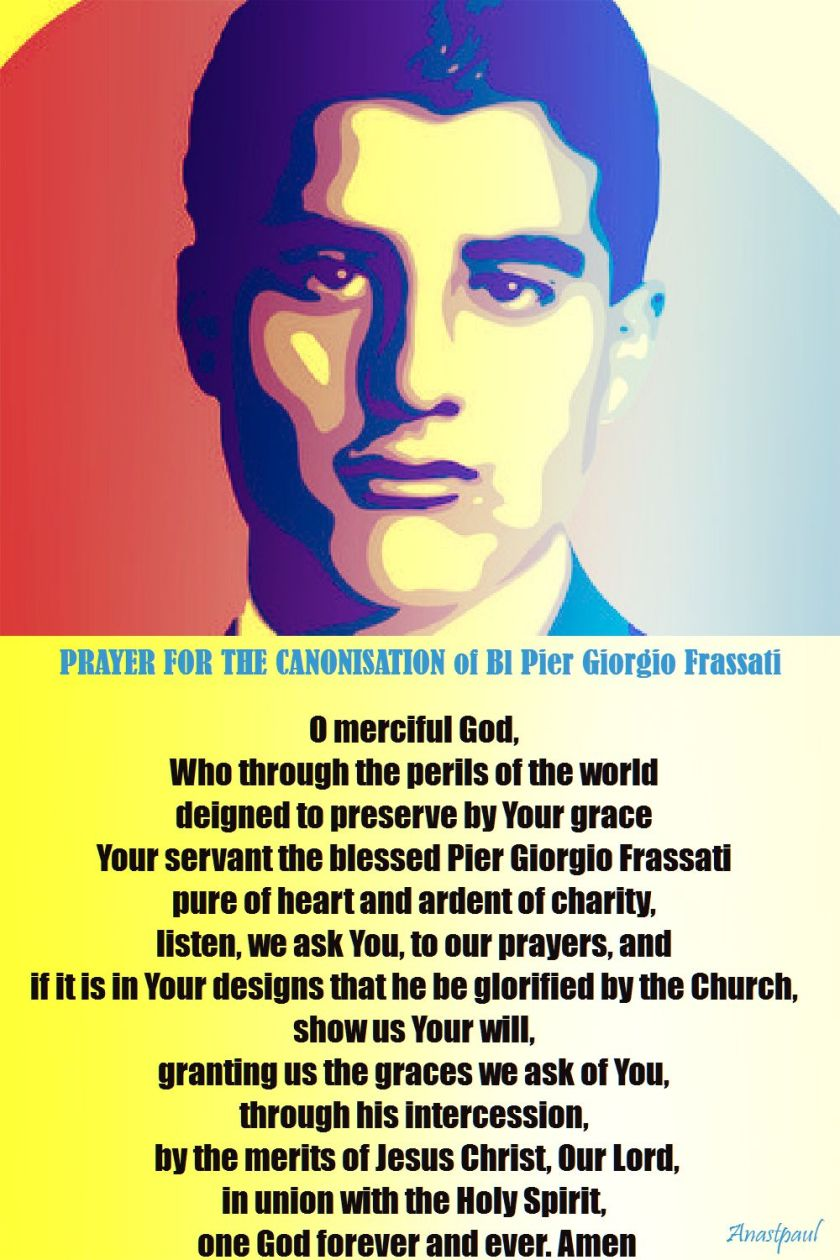 prayer for the canonisation of bl pier