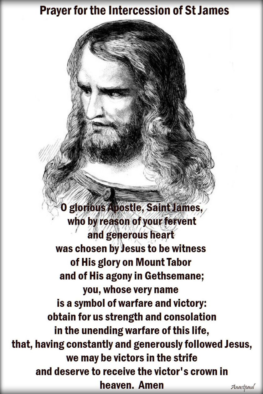 Prayer for the Intercession of St James