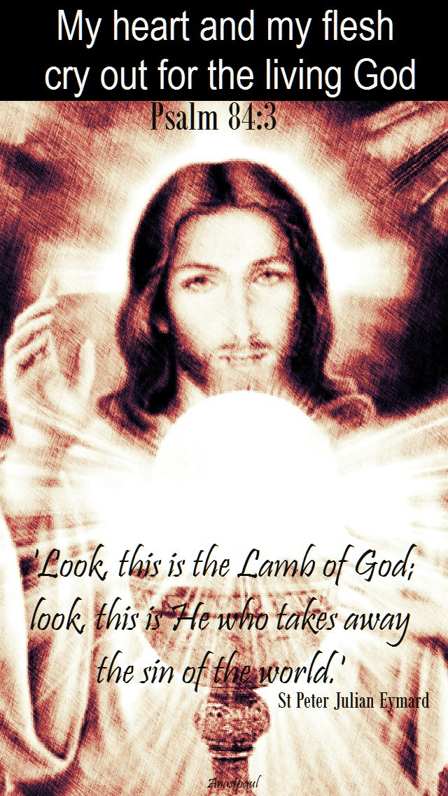 PSALM 84 3 - look this is the lamp of god - st p j eymard
