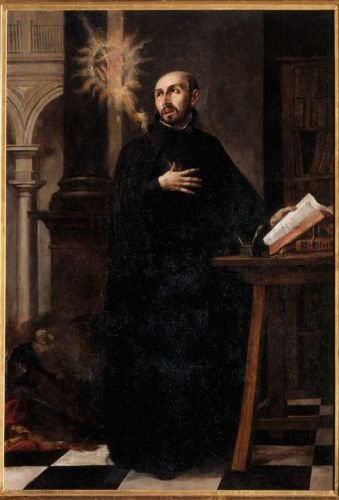 Saint Ignatius Loyola receiving the name of Christ, 1676, by Juan de Valdes Leal