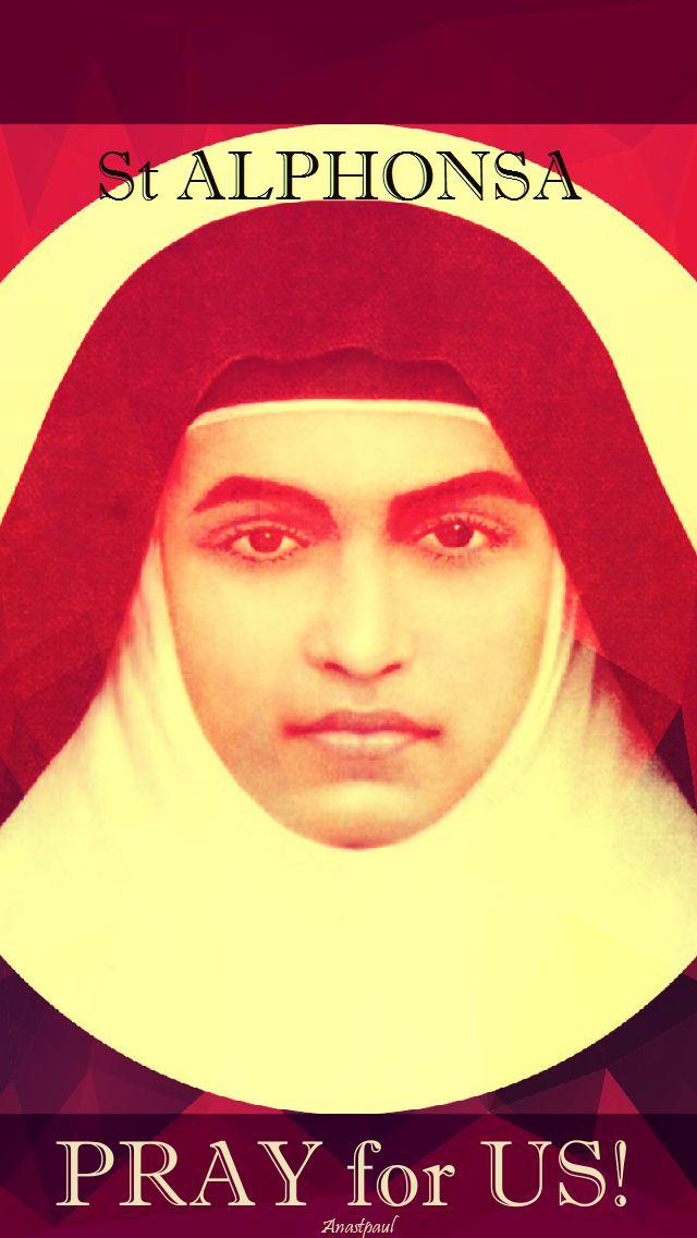 st alphonsa pray for us