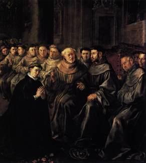 St Bonaventure Enters the Franciscan Order