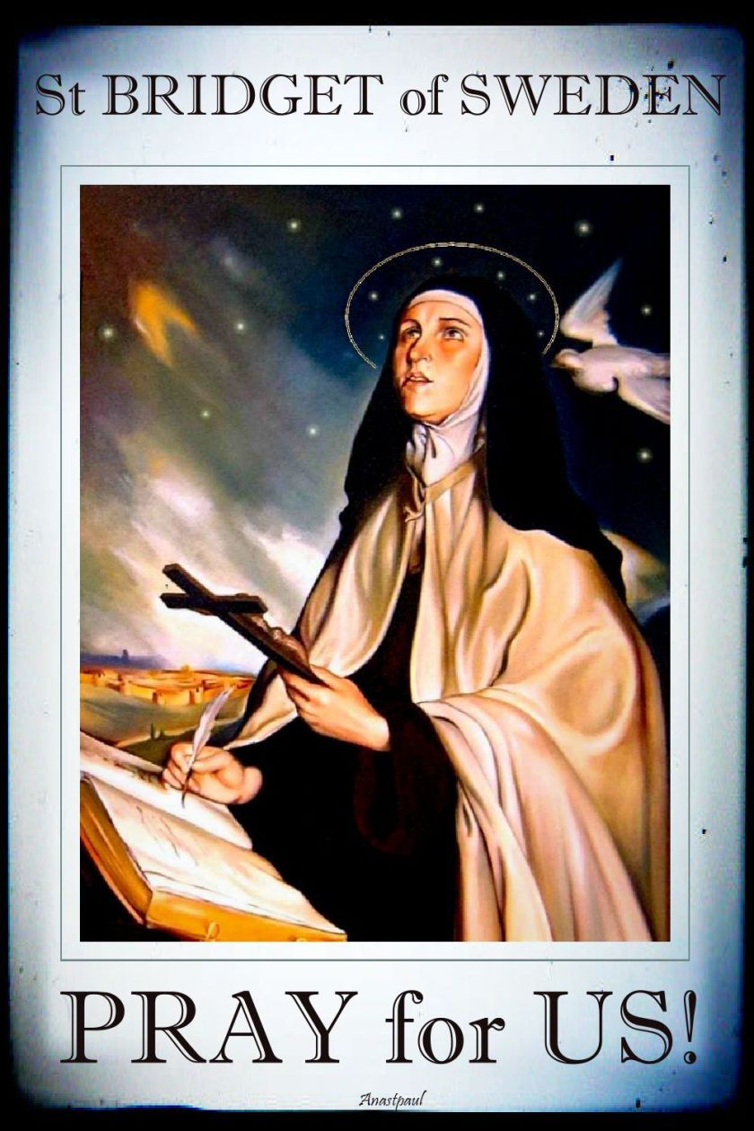 st bridget of sweden - pray for us