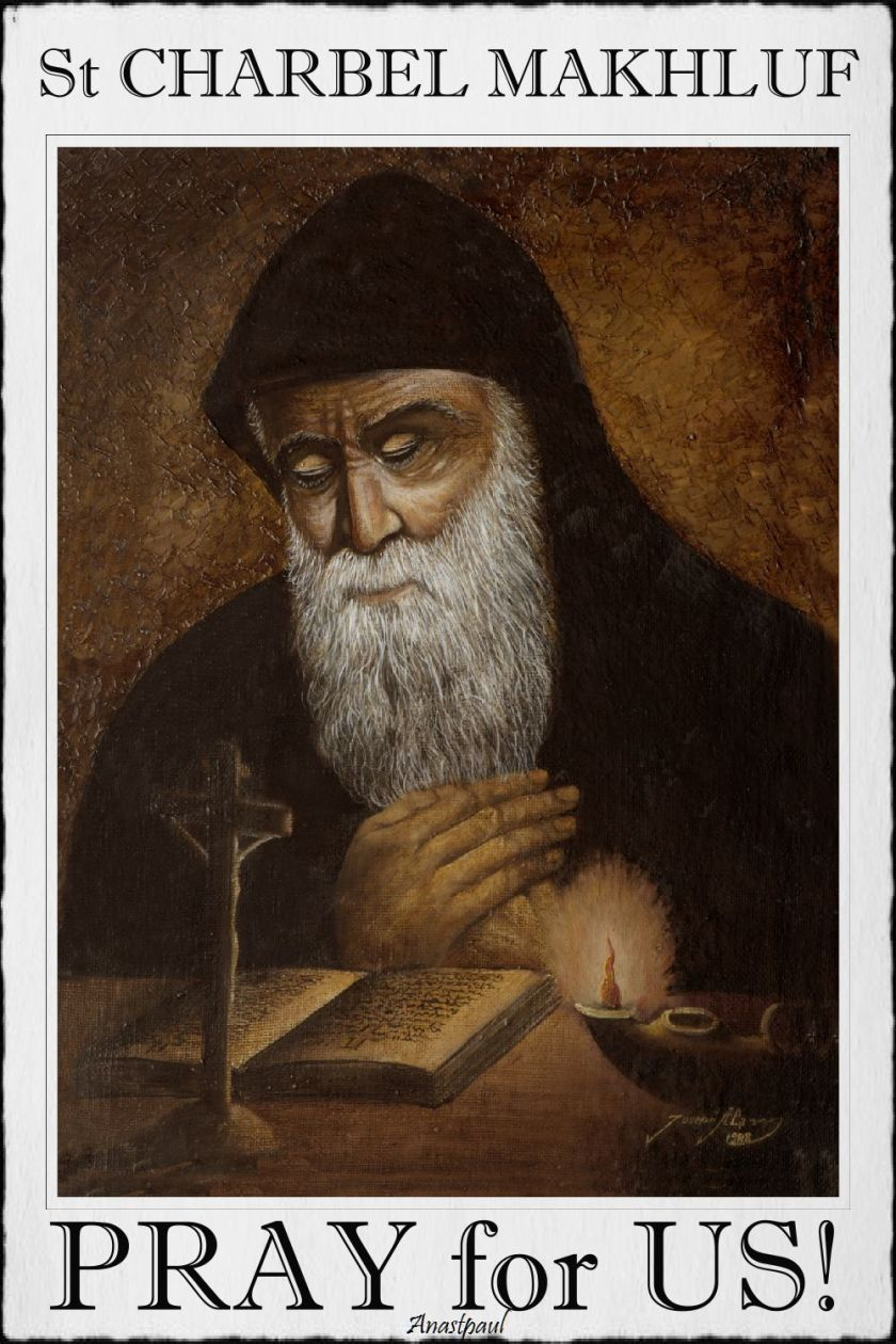 st charbel - pray for us