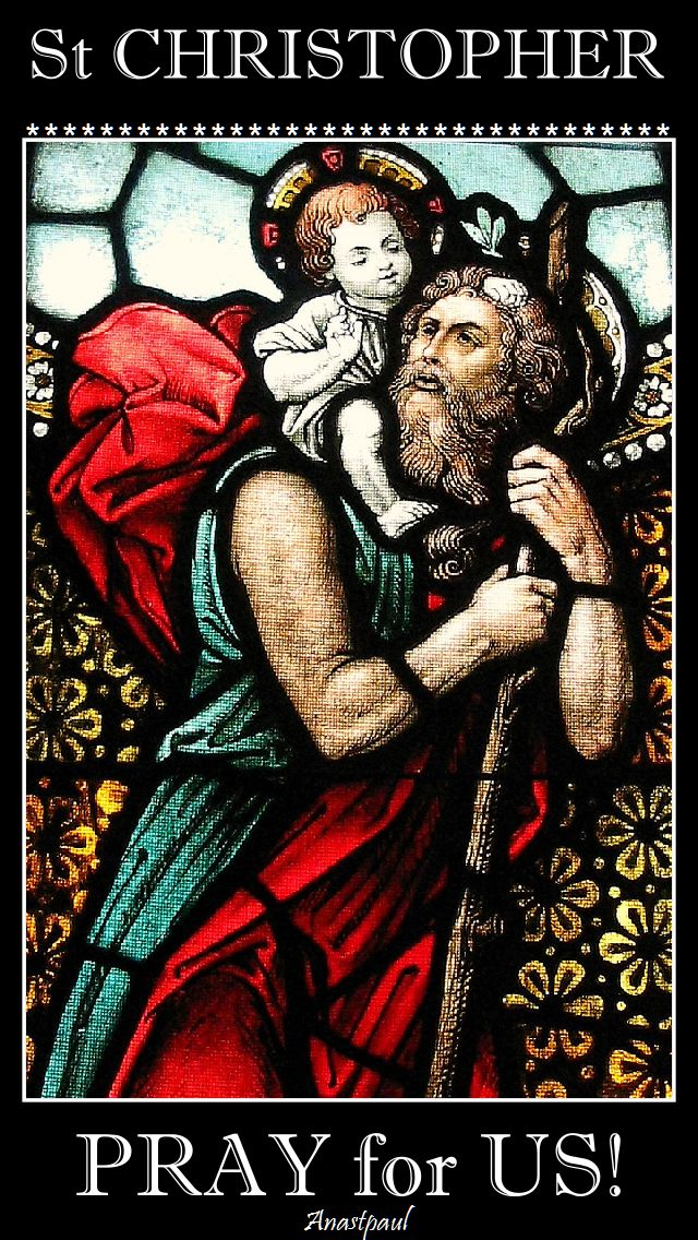 st christopher - pray for us