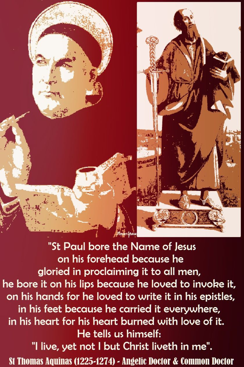 st paul bore the name of Jesus-st thomas aquinas