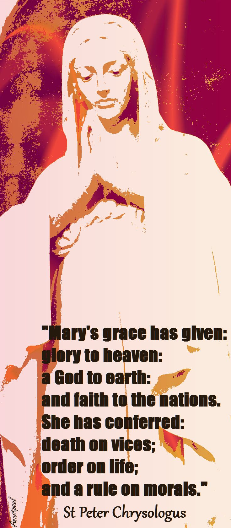 ST PETER CHRYSOLOGUS MARY'S GRACE