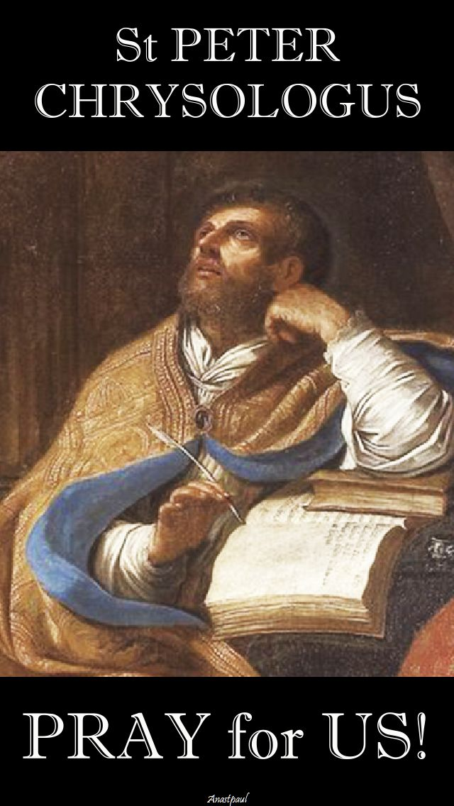 st peter chrysologus pray for us