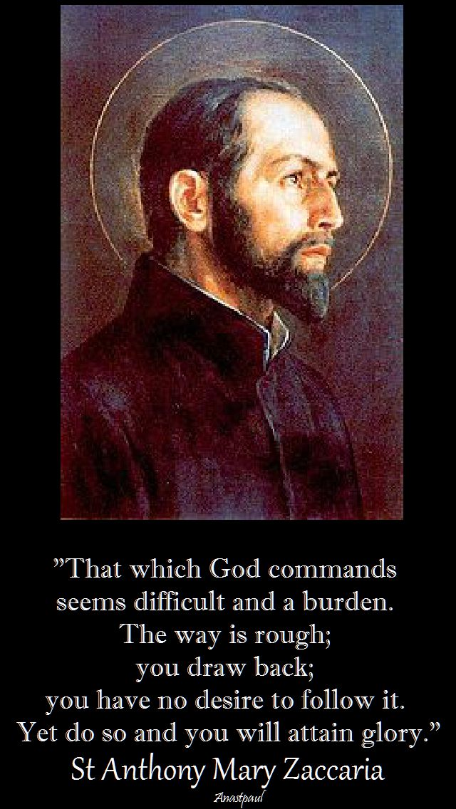 that which god commands st anthony mary zaccaria