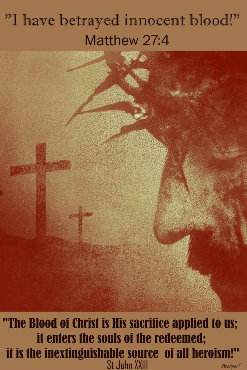 the blood of christ-st john XXIII