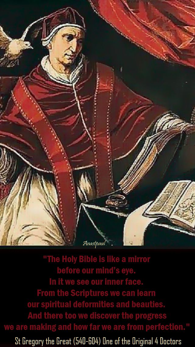 the holy bible is like a mirror - st gregory he great