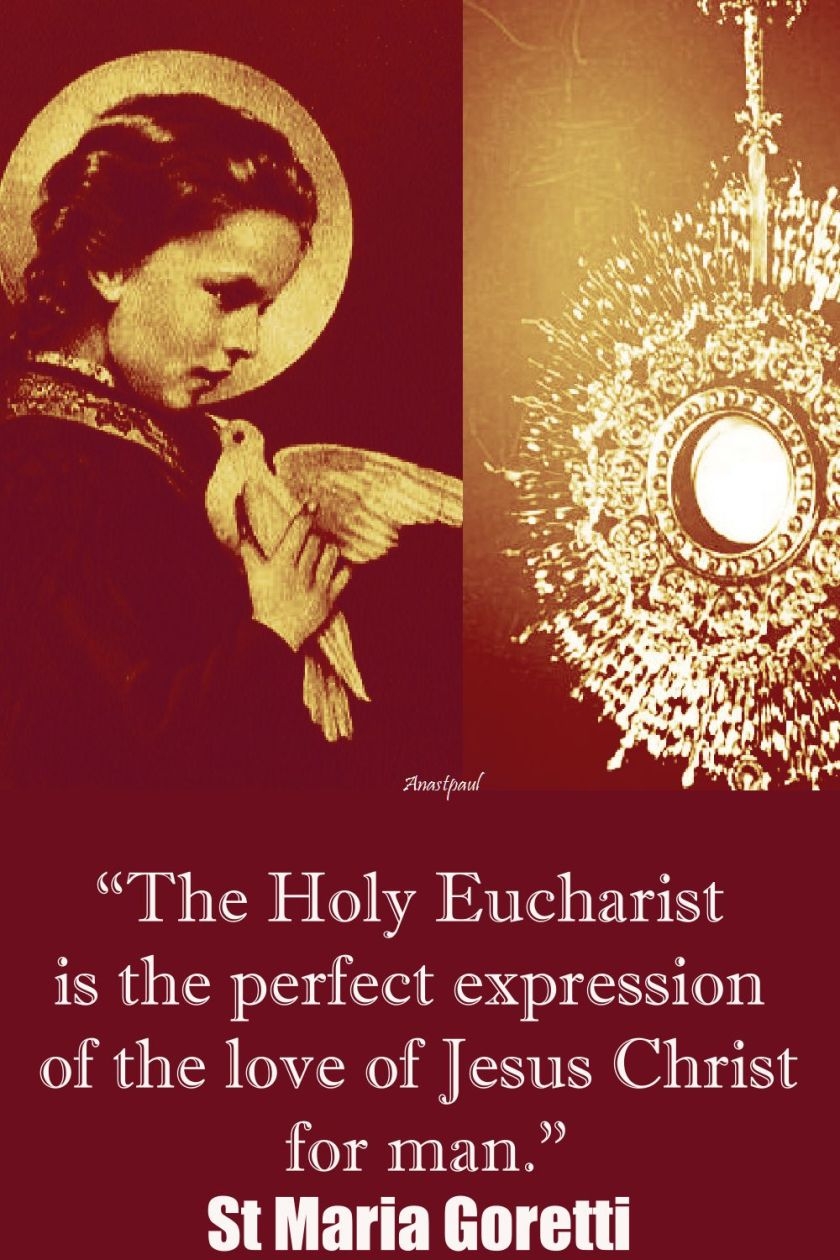 the holy eucharist-st maria goretti