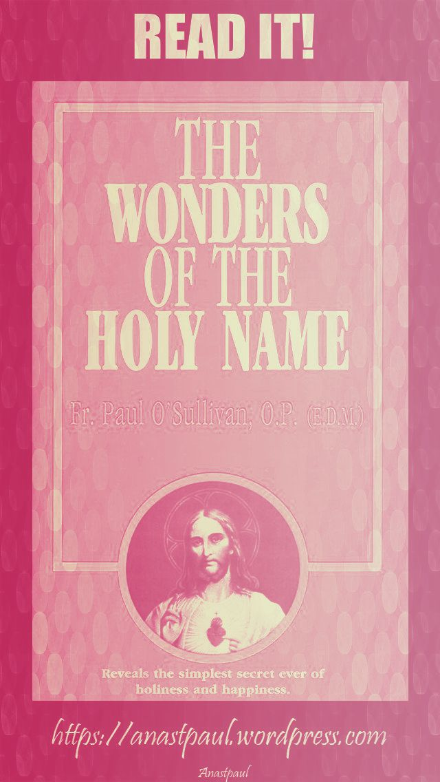 the wonders of the holy name-day fifteen-24 july