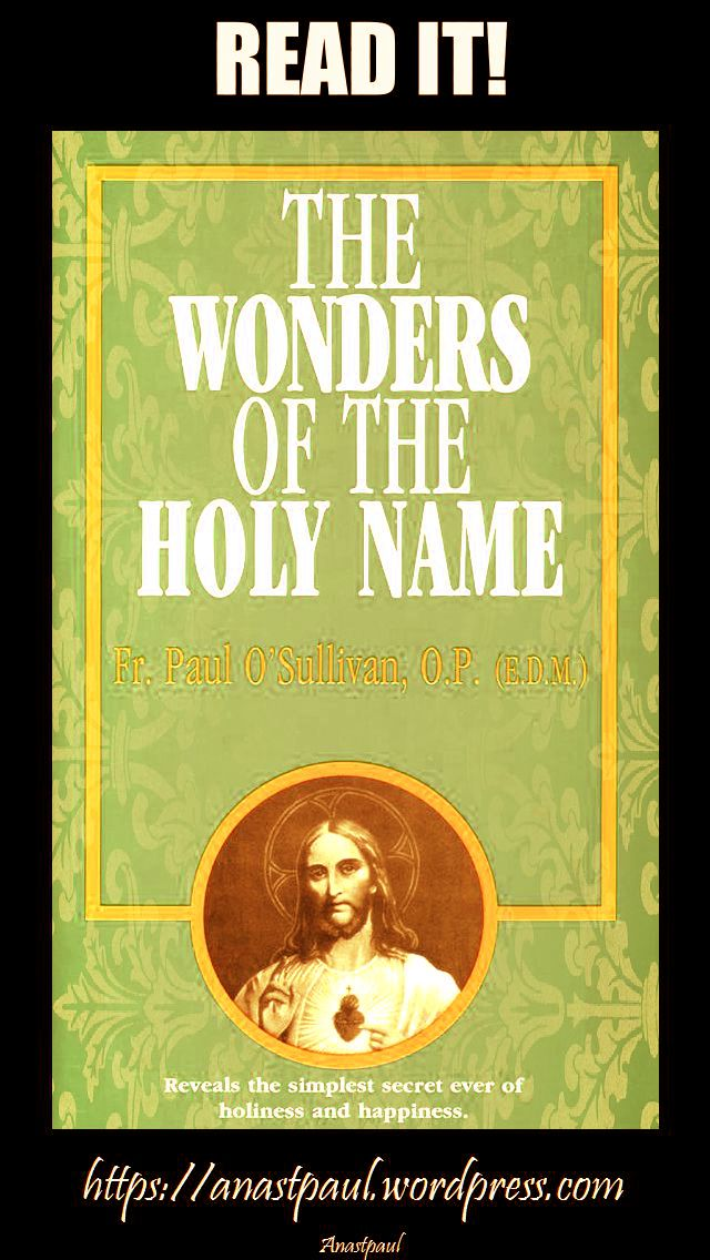 the wonders of the holy name-day five-12 july