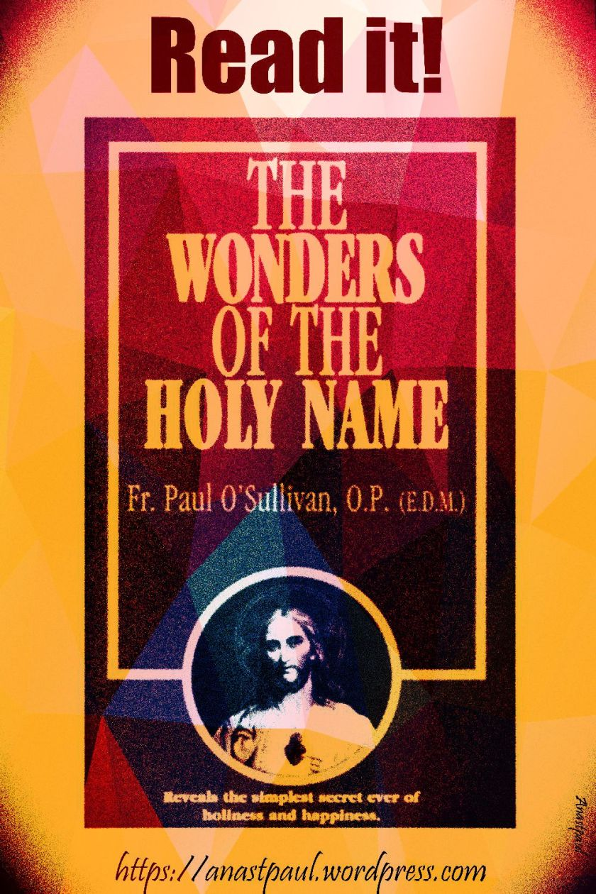 the wonders of the holy name-day FOurteen -23 july