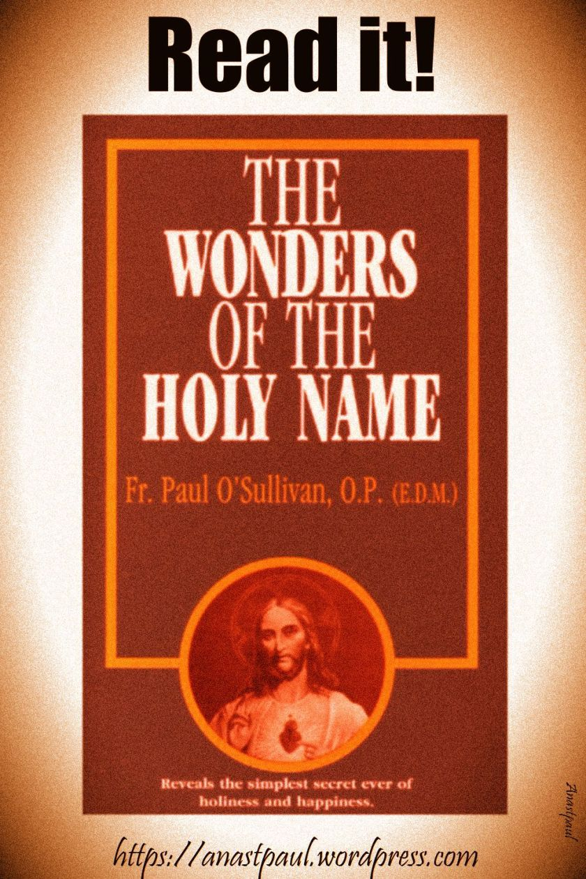 the wonders of the holy name-day nine-18 july