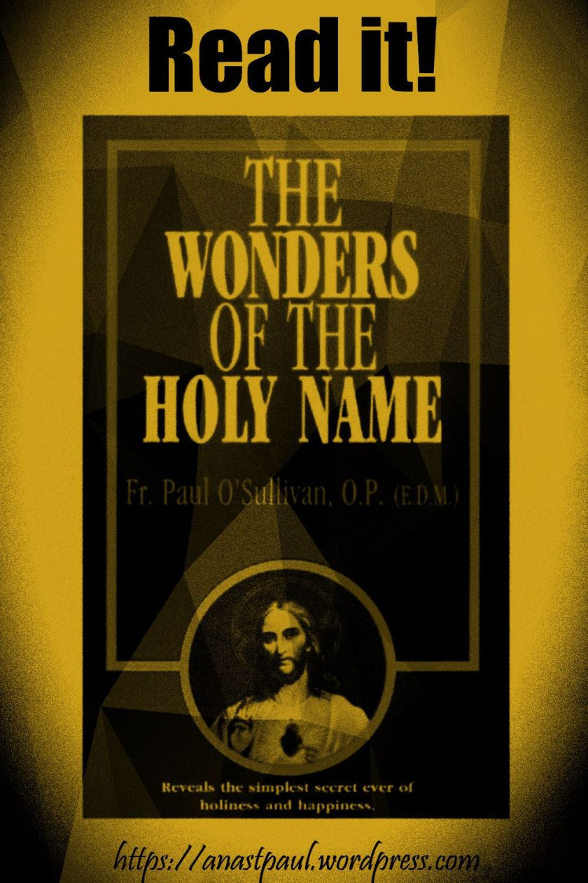 the wonders of the holy name-day seven-16 july