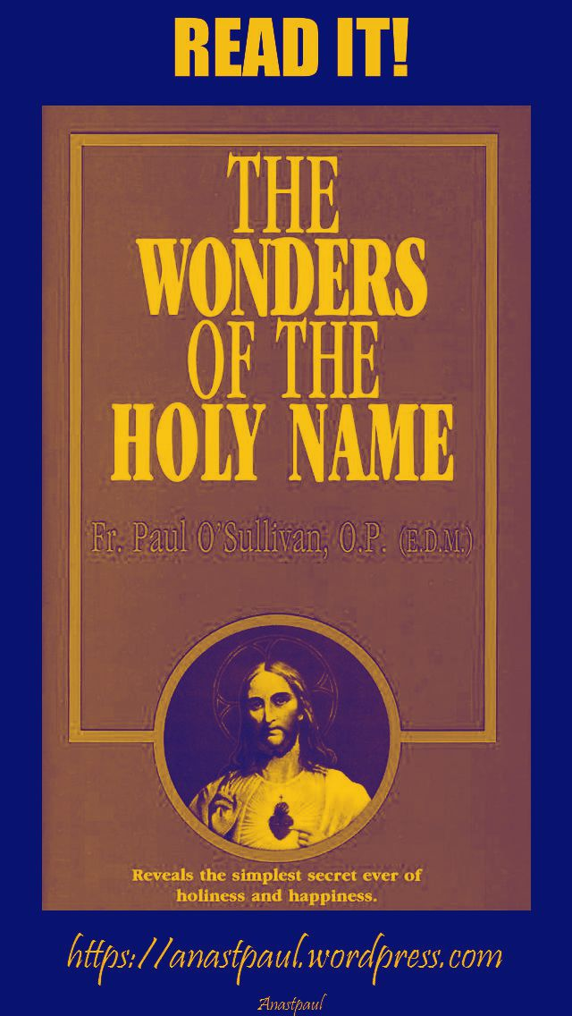 the wonders of the holy name-day ten-12 july