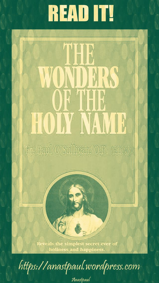 the wonders of the holy name-day thirteen-22 july