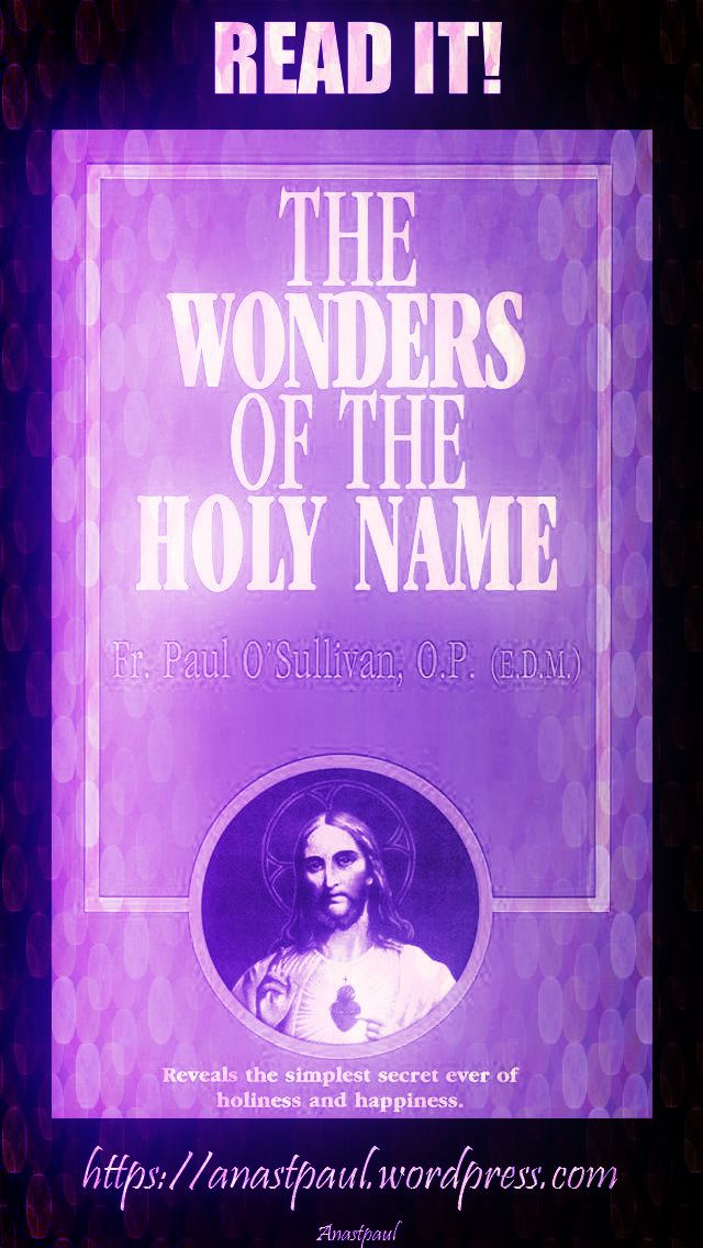 the wonders of the holy name-day twelve-21 july