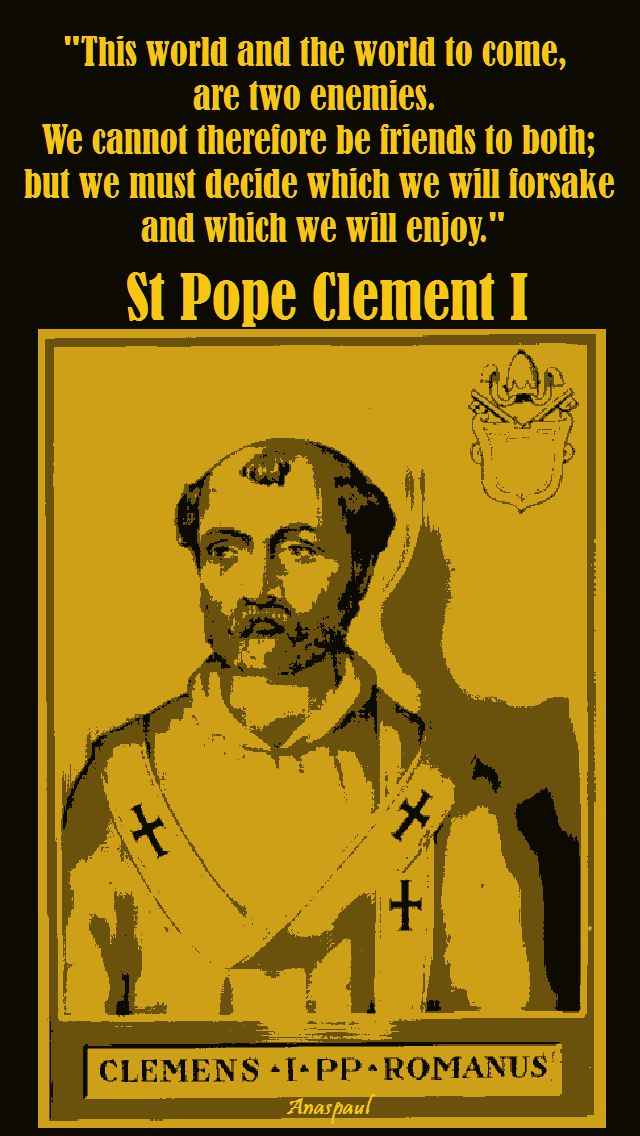 this world and the word to come-s pope clement I