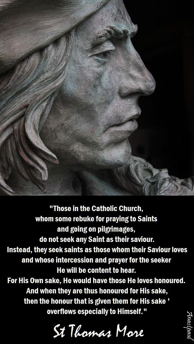 those in the Catholic church - st thomas more