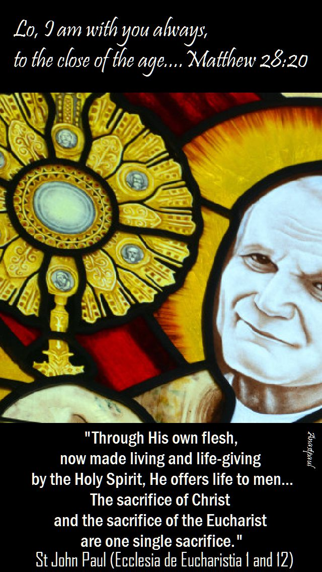 through his own flesh - st john paul