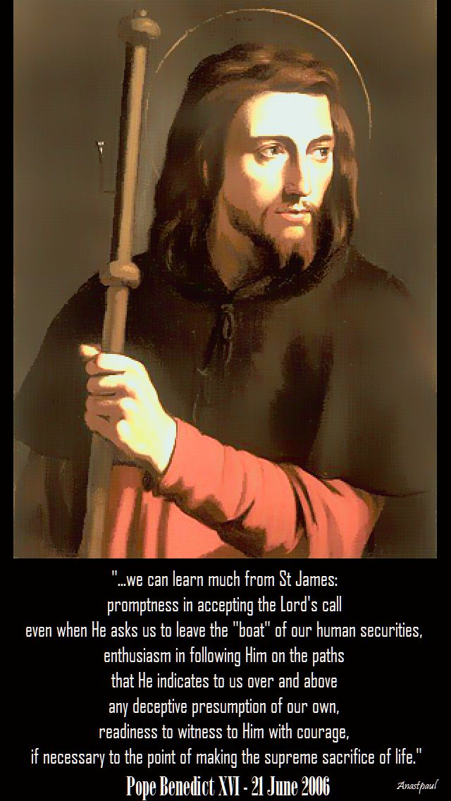 we can learn much from st james - pope benedict