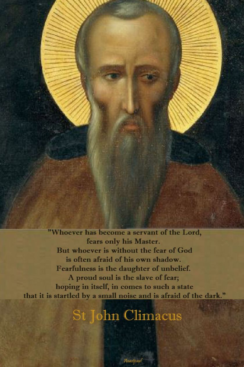 whoever has become a servant of the lord - st john climacus