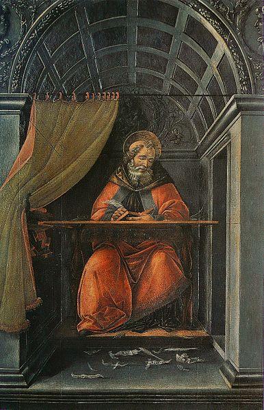 386px-Sandro_Botticelli_-_St_Augustin_dans_son_cabinet_de_travail