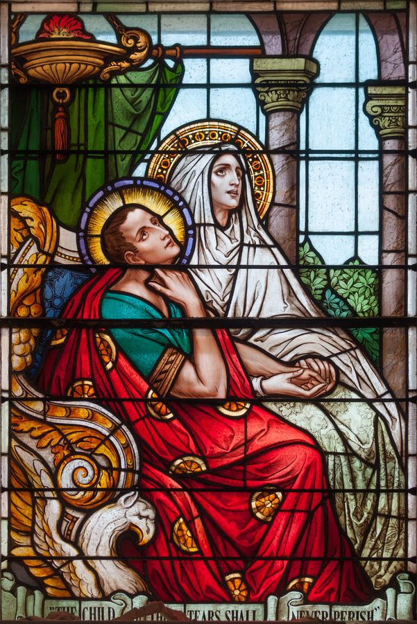 the saint augustines image of women Commemorated on may 4 st monica, the mother of st augustine of hippo, was born in 322 in tagaste (located in modern-day algeria) her parents were christians unlike many women of that time, st monica was never beaten by her husband.