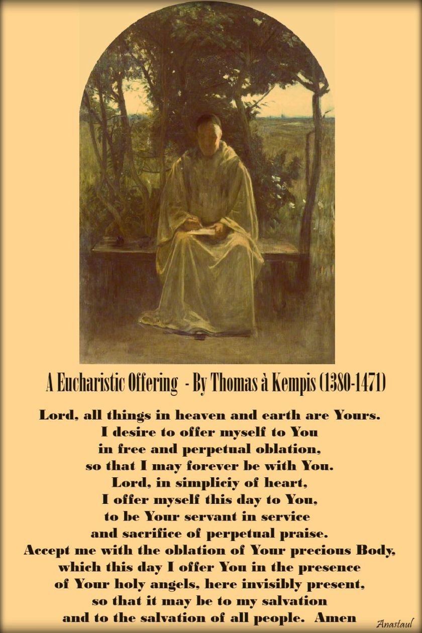 a eucharistic offering - by thomas a kempis