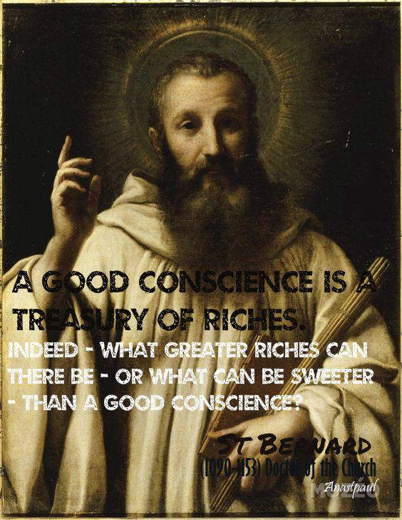 a good conscience - st bernard