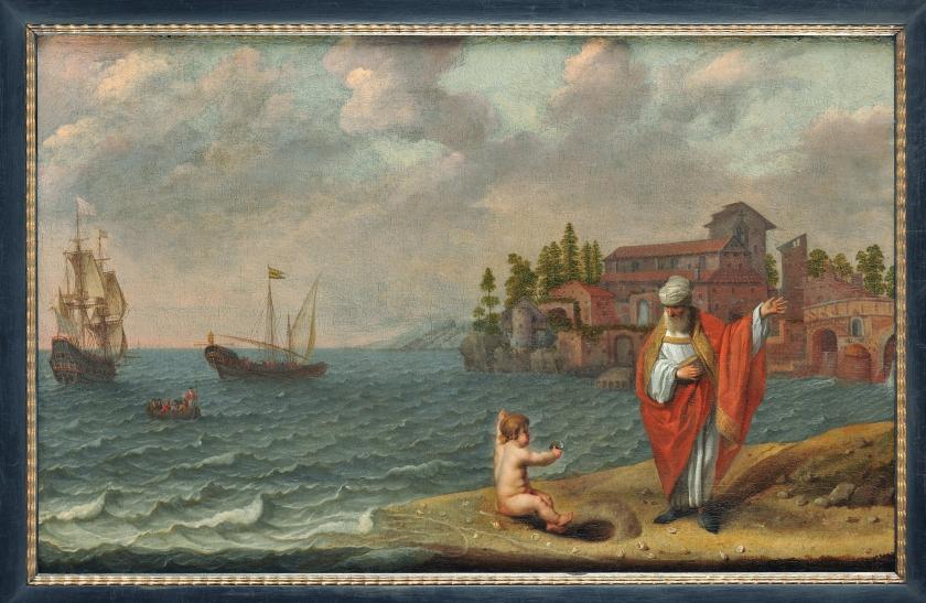 Abraham Willaerts – Saint Augustine and the child
