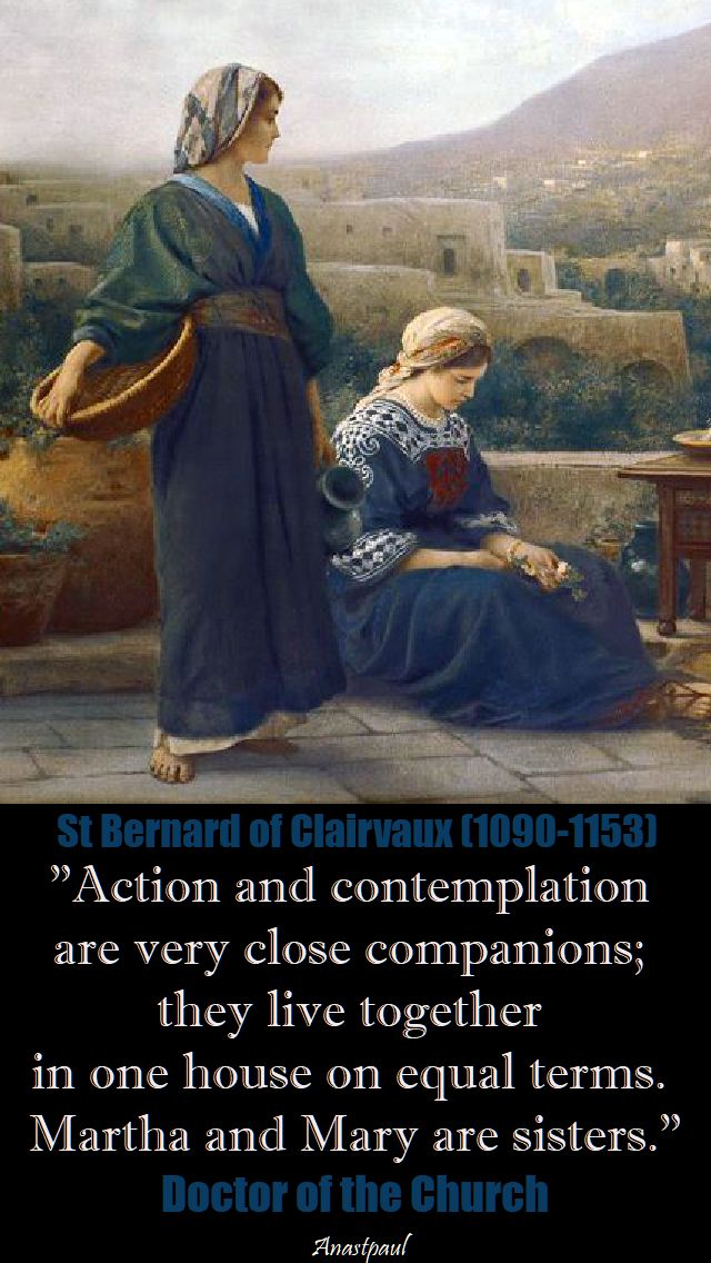 action and contemplation - st bernard
