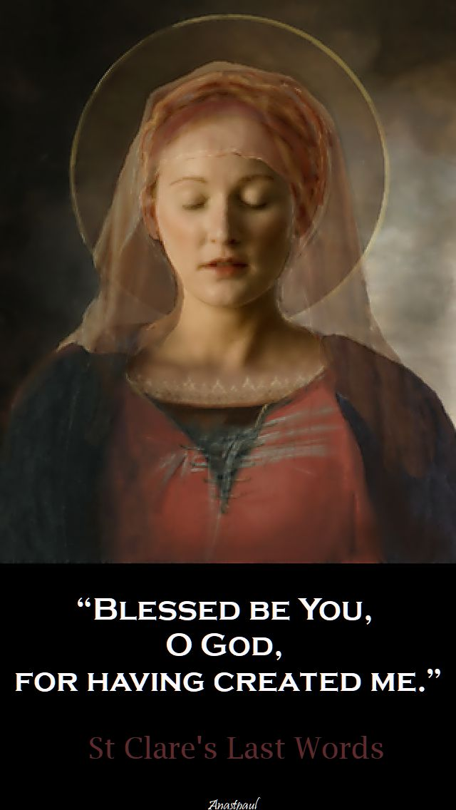 blessed be you o god - st clare