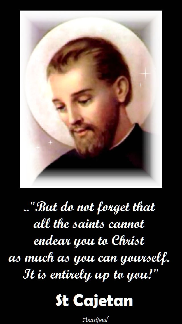 but do no forget - st cajetan