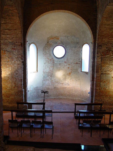 Chapel of the Anaunia martyrs, behind the apse in the Crypt of San Simpliciano church.