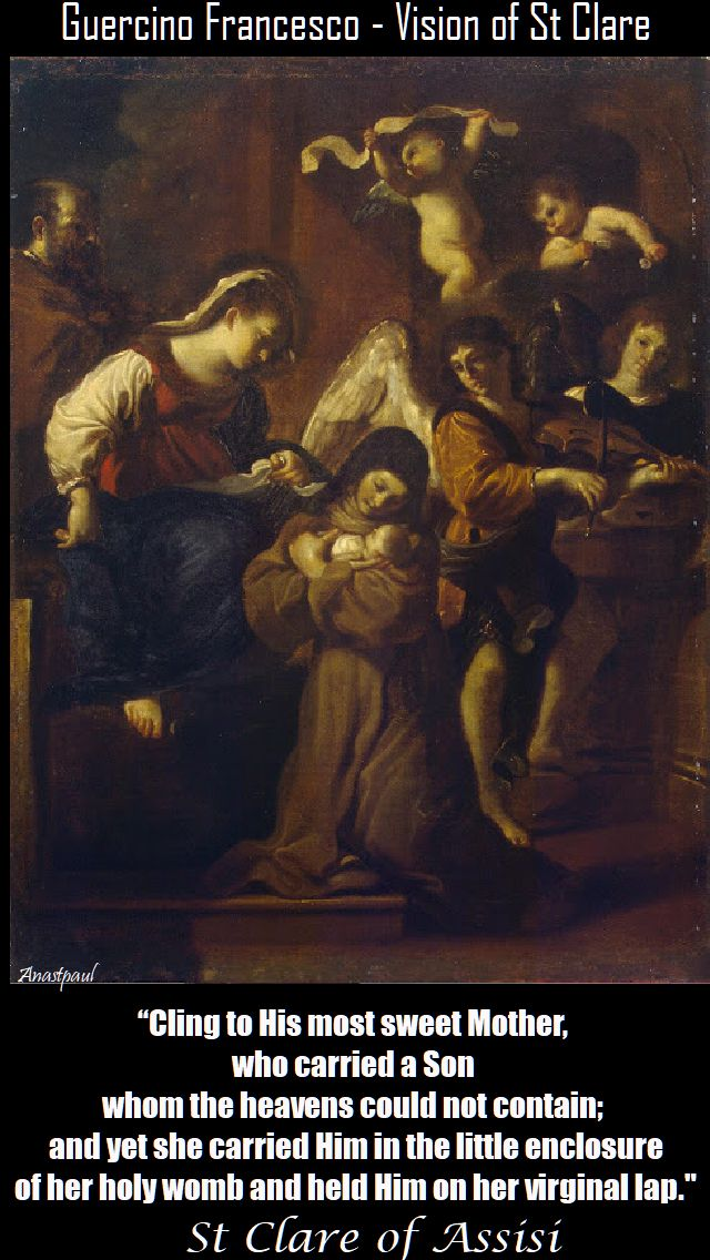 cling to his most sweet Mother - st clare